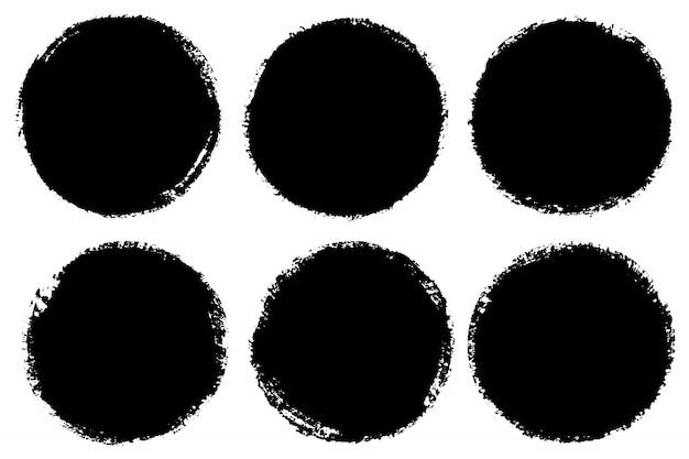 Conjunto de círculos dibujados a mano.