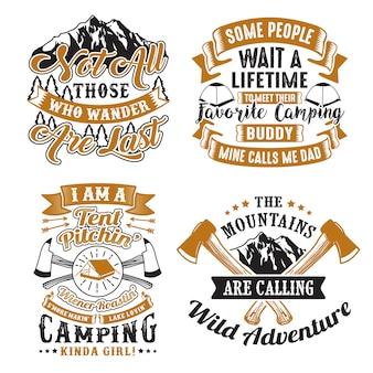 Conjunto de cita y refrán de aventura