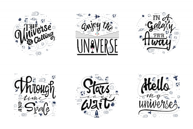 Un conjunto de citas sobre el cosmos.