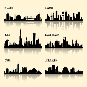 Conjunto de ciudades de medio oriente