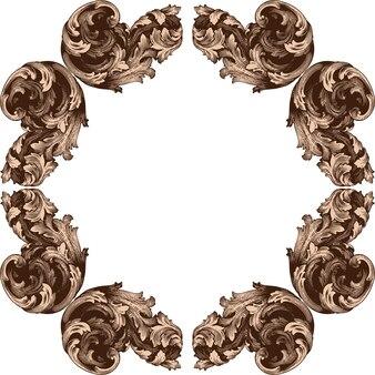 Conjunto clásico barroco de elementos vintage para el diseño. elemento decorativo de diseño en filigrana.
