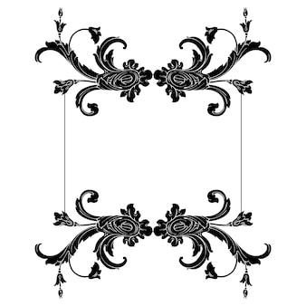 Conjunto clásico barroco de elementos vintage para el diseño. elemento de diseño decorativo de caligrafía de filigrana.