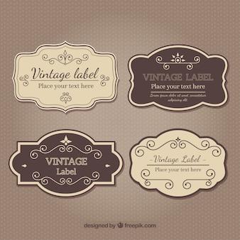 Conjunto clásico de insignias de boda vintage