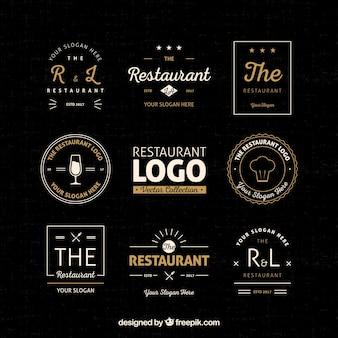 Conjunto clásico de losog vintage de restaurante