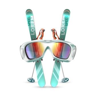 Conjunto de club de esquí