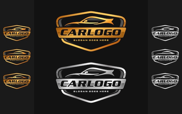 Conjunto de coche, plantilla de logotipo automotriz