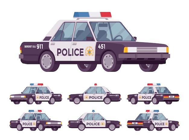 Conjunto de coches de policía