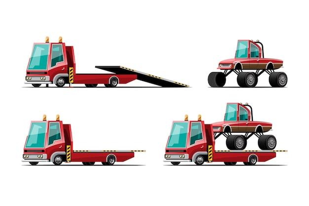 Conjunto de coches de remolque