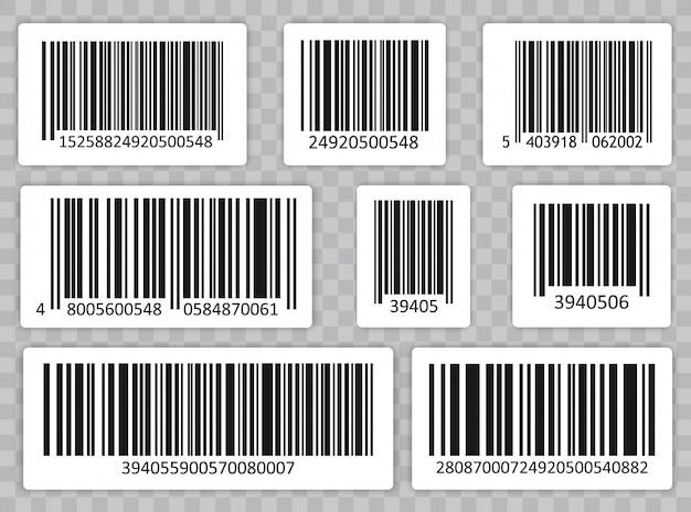 Conjunto de código de barras. código universal de escaneo del producto.
