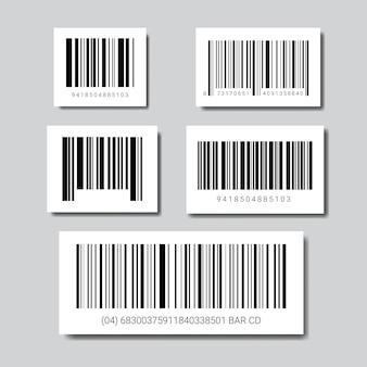 Conjunto de códigos de barras de muestra para el icono de escaneo