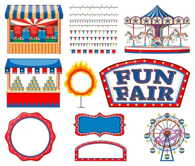 Conjunto de colección de artículos de circo