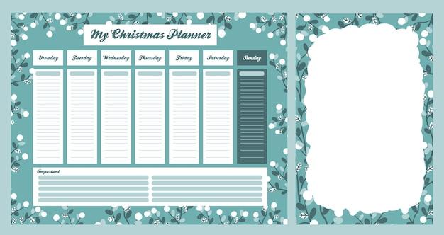 Conjunto de colección de diseño de celebración navideña de calendario de navidad 2021