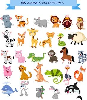 Conjunto de colección de grandes animales