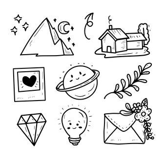 Conjunto de colección de iconos