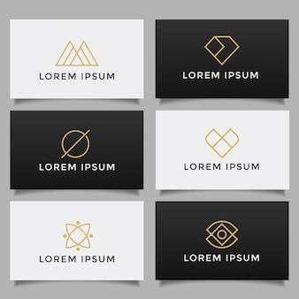 Conjunto de colección de logotipo creativo simple minimalista.