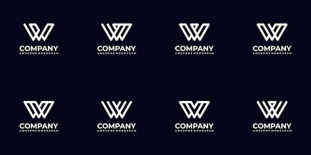 Conjunto de colección de logotipo de letra monograma abstracto para empresa