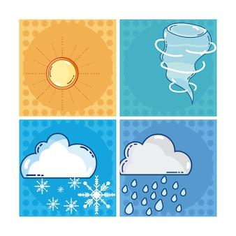 Conjunto de colección de marcos de cuadros de clima