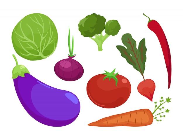 Conjunto de colección de verduras