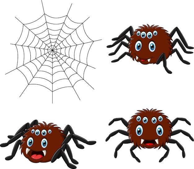 Conjunto de colecciones de araña de dibujos animados