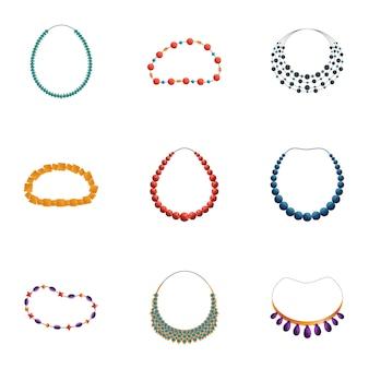 Conjunto de collar, estilo de dibujos animados