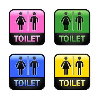 Conjunto de colores de baño símbolos