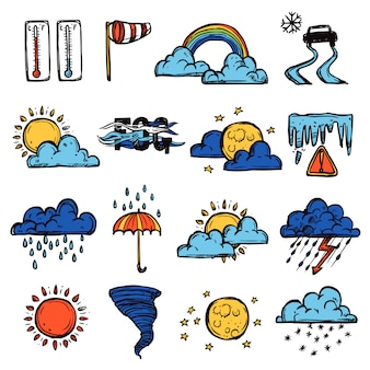Conjunto de colores del clima