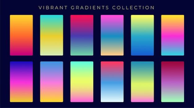 Conjunto de colores de fondo abstracto degradado