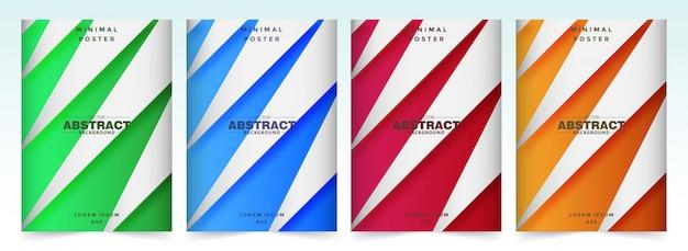 Conjunto de coloridas fundas a4 con formas fluidas.