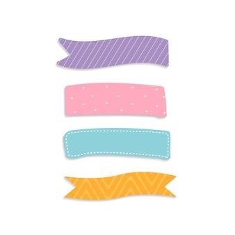 Conjunto de coloridas notas adhesivas
