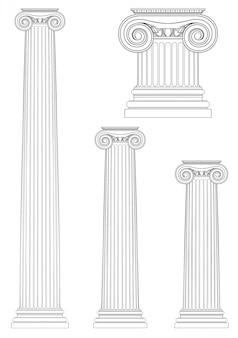 Conjunto de columnas iónicas