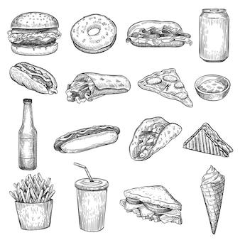 Conjunto de comida rápida