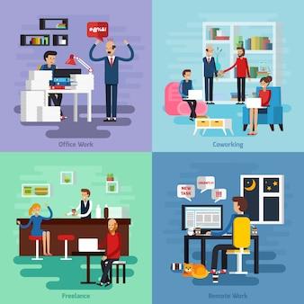 Conjunto de composición de caracteres de trabajo