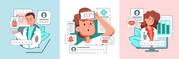 Conjunto de composiciones de medicina en línea.