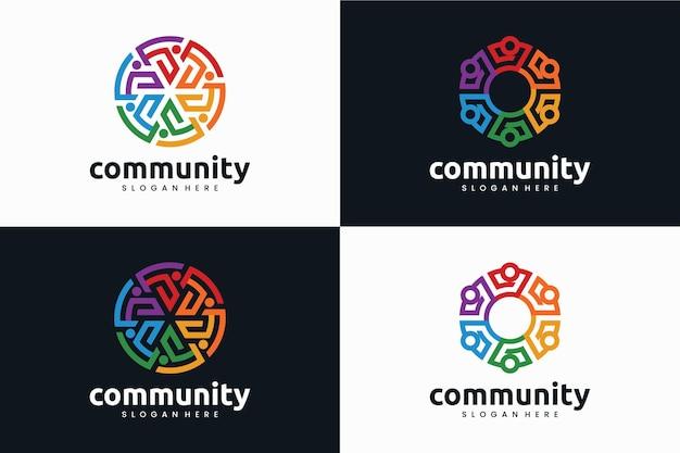 Conjunto de comunidad, inspiración para el diseño de logotipos.