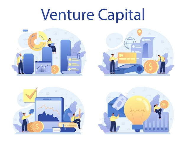Conjunto de concepto de capital de riesgo