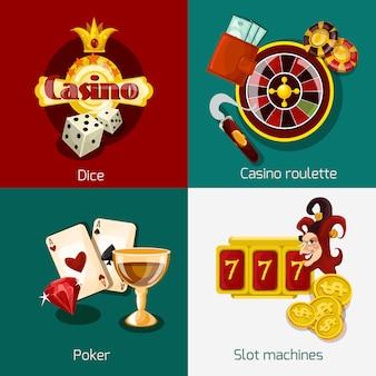 Conjunto de concepto de casino