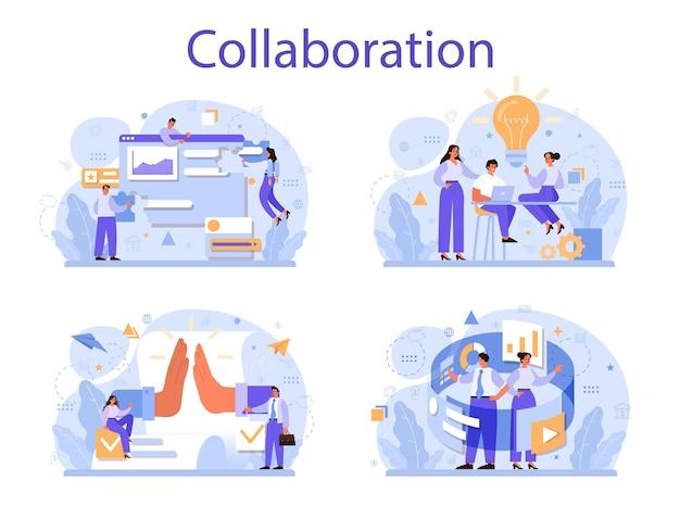 Conjunto de concepto de colaboración