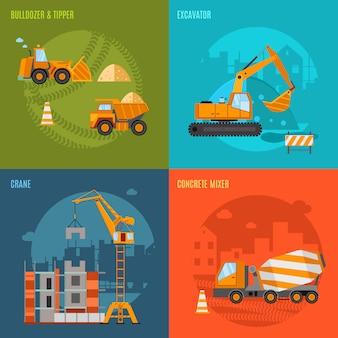 Conjunto de concepto de construcción