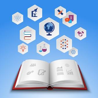 Conjunto de concepto de educación