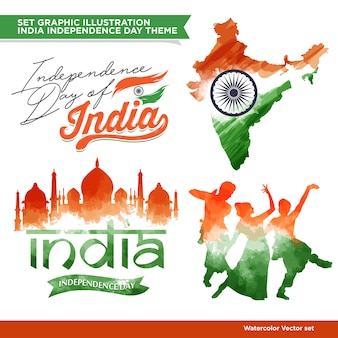 Conjunto de concepto de la india