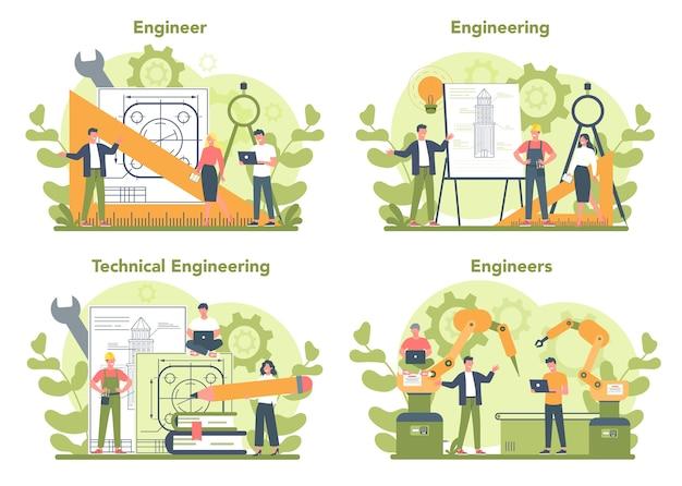 Conjunto de concepto de ingeniería