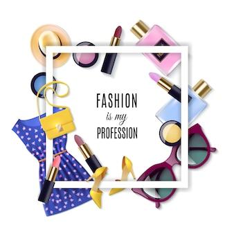 Conjunto de concepto de moda