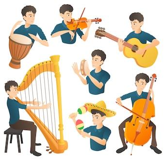 Conjunto de concepto de músico