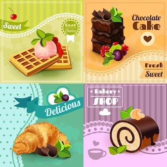 Conjunto de concepto de panadería