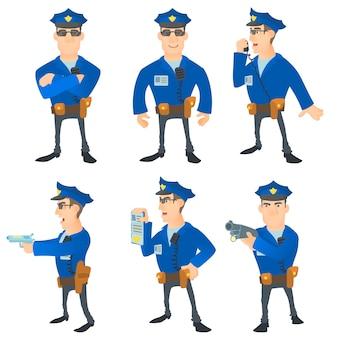 Conjunto de concepto de policía