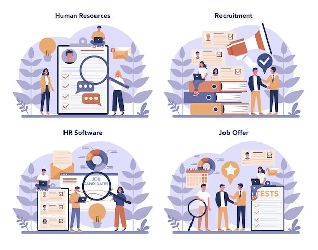 Conjunto de concepto de recursos humanos