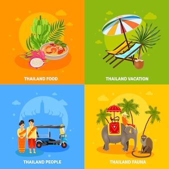 Conjunto de concepto de tailandia