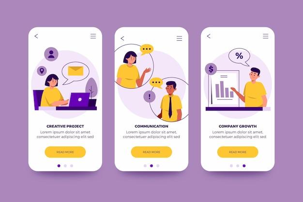 Conjunto de conceptos de aplicaciones diferentes
