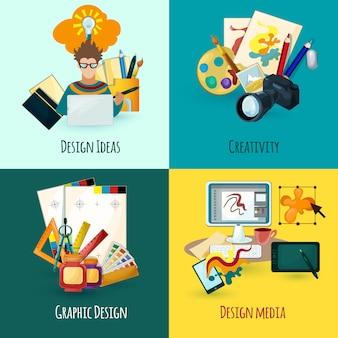Conjunto de conceptos de diseñador