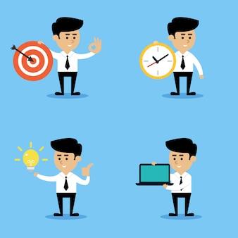 Conjunto de conceptos de empresario